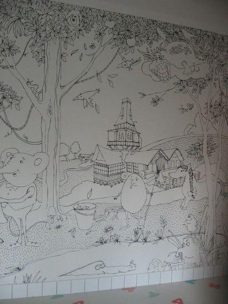 Стены дачи Бенуа рассказывают о жизни сказочных бенуариков