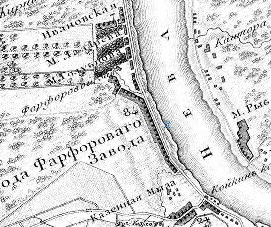Топографическая карта окружности Санкт-Петербурга 1817 г. (www.etomesto.ru)