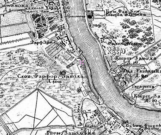 Монографическая карта окрестностей Санкт-Петербурга Шуберта 1831 г. (www.etomesto.ru)