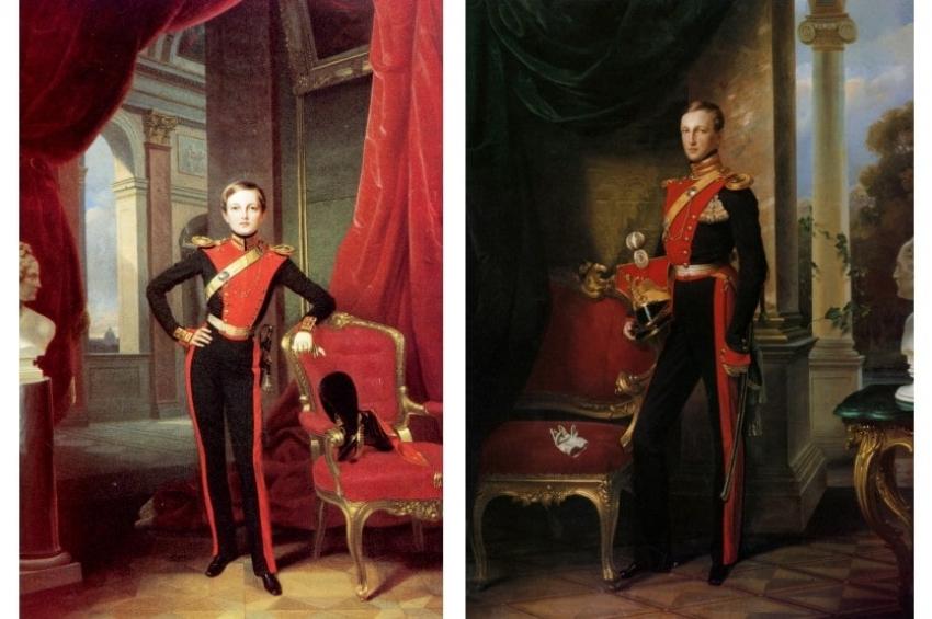Прогулки в Петергофе младших сыновей императора Николая I в 1850-1852 годах, часть 1