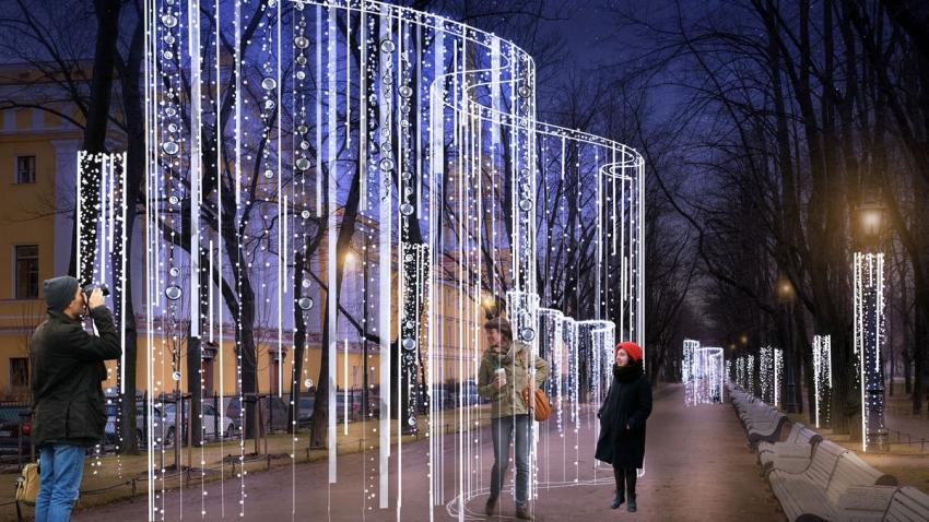 Как украсят Петербург к Новому году и Рождеству