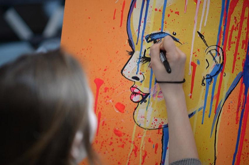 Афиша мастер-классов в студии рисования Zuart