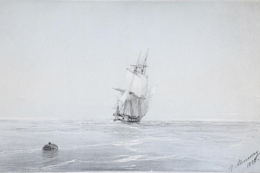 В Кронштадте открылась выставка редких картин Айвазовского