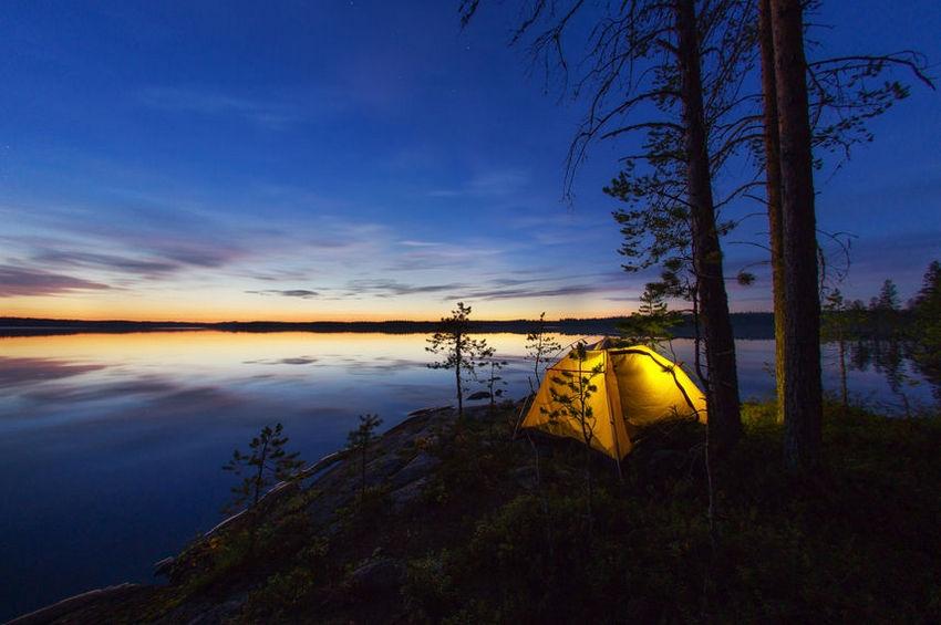 Отдых с палаткой: лучшие места в Карелии и Ленобласти